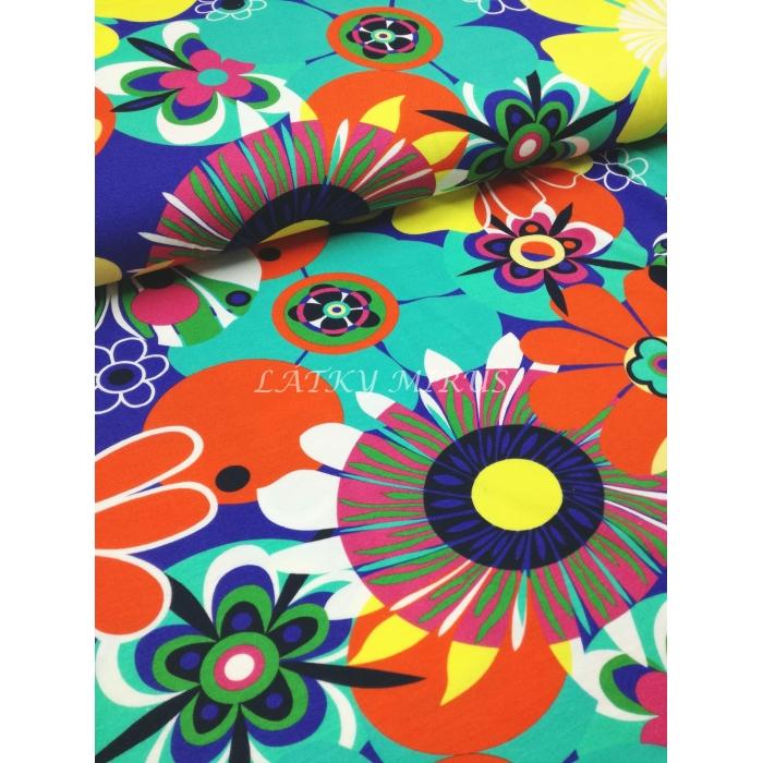 č.3956 viskoza - květy