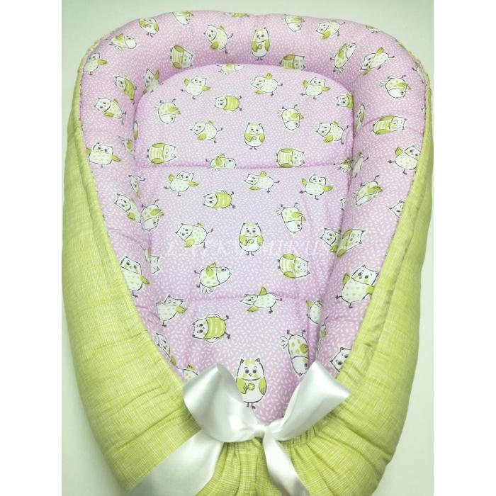 Hnízdo pro miminka - Sovičky na fialové
