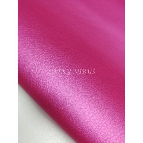 Koženka 18 sytě růžová perleť