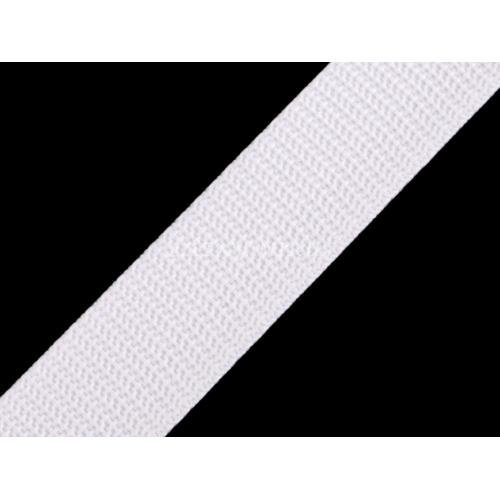 Popruh bílý 25mm