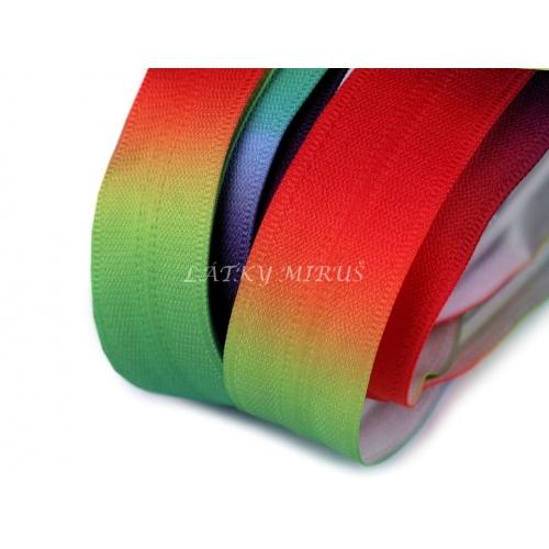Duhový zip spirálový skrytý šíře 5 mm metráž
