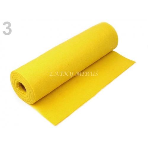 Plsť / filc šíře 41 cm - žlutá