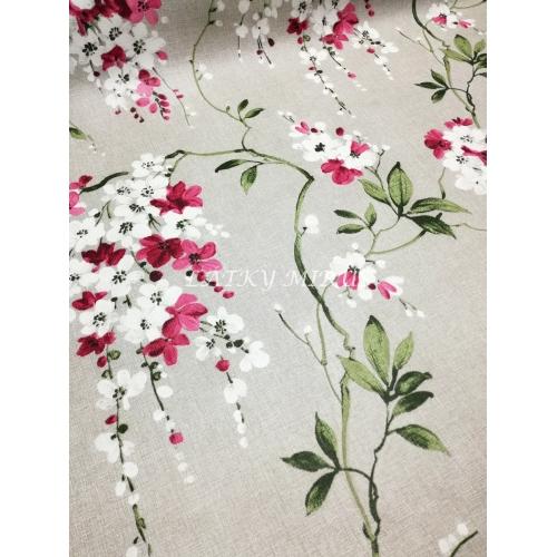 PVC ubrusovina - květy