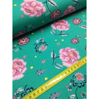 č.7025 teplákovina - květy