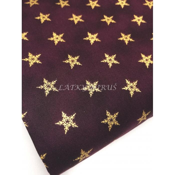 č.7154 zlaté hvězdy na bordo