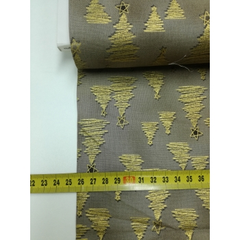 č.7191 zlaté stromy na béžové