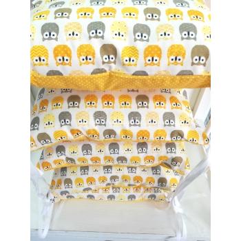 Hnízdečko pro miminko - Žluté sovy