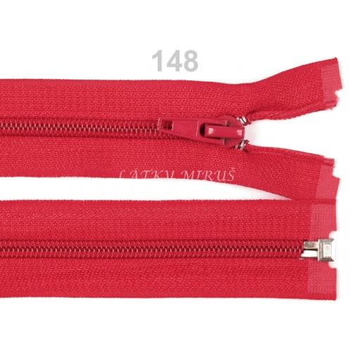 Spirálový zip šíře 5 mm délka 30 cm bundový červený