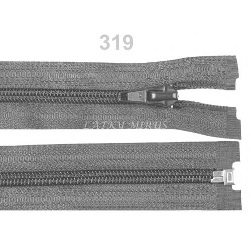 Spirálový zip šíře 5 mm délka 30 cm bundový šedý
