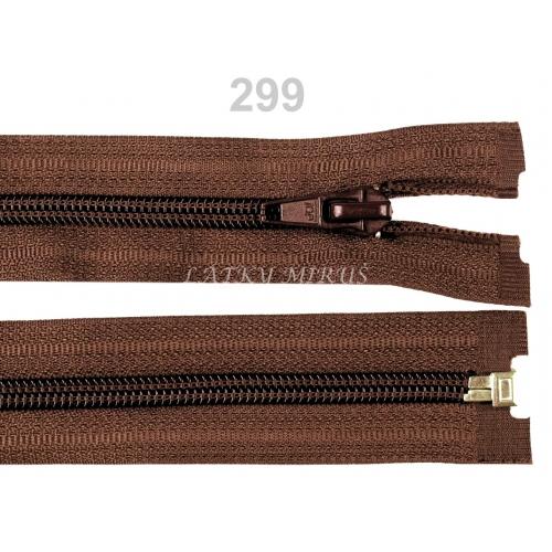 Spirálový zip šíře 5 mm délka 30 cm bundový hnědý
