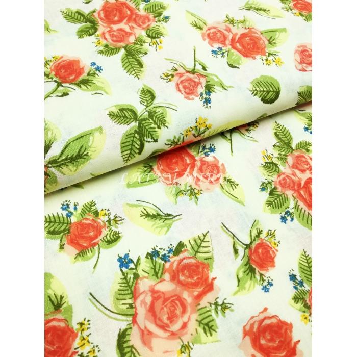 č.7324 růže na smetanové
