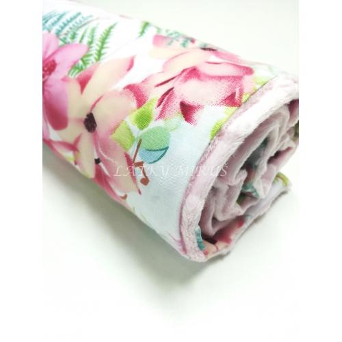 Dětská deka - růžové květy