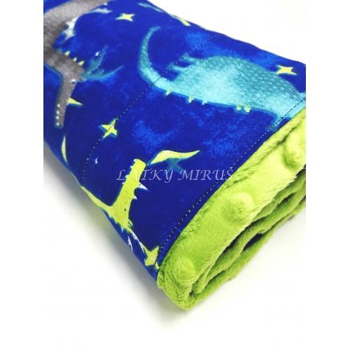 Dětská deka - draci na modré