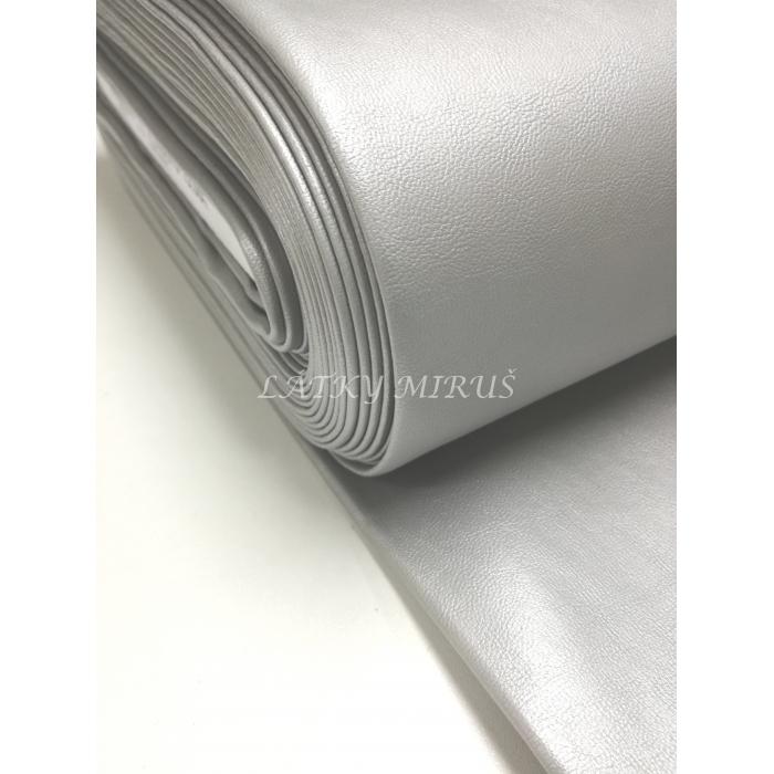 Koženka metalická šedá 01268-070