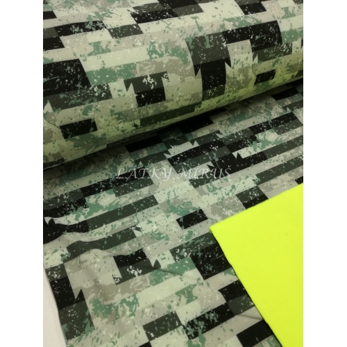 Softshell 103 zelené kostky