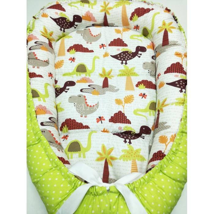 Hnízdečko pro miminko- Dinosauři + puntík