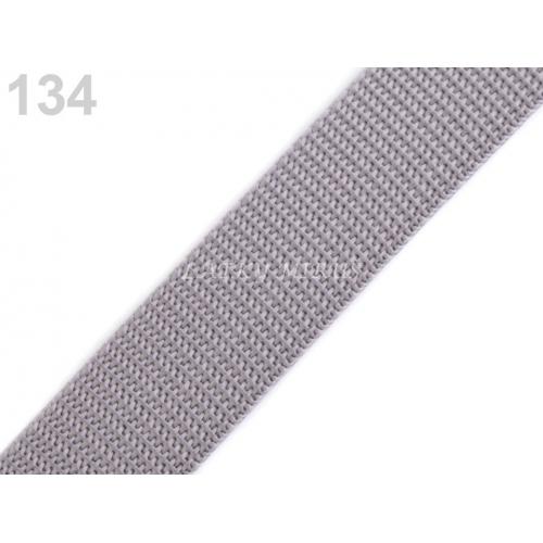 Popruh šedý 25mm