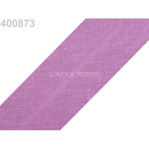 Šikmý proužek 30mm - fialový