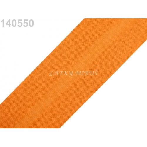 Šikmý proužek 30mm - oranžový