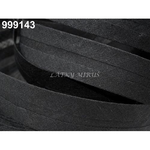 Šikmý proužek 20mm - černý