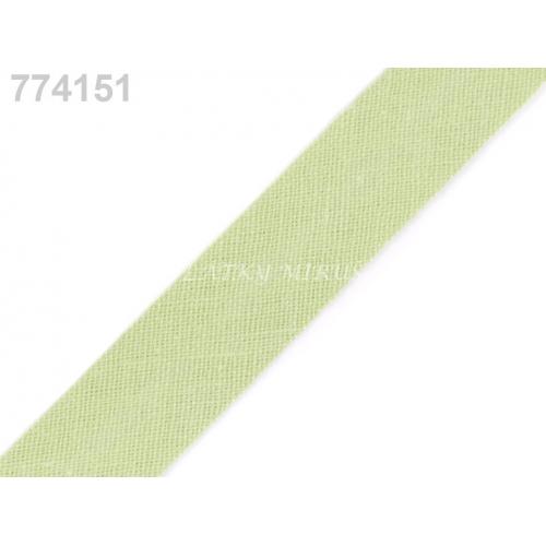 Šikmý proužek 14mm - sv.zelená