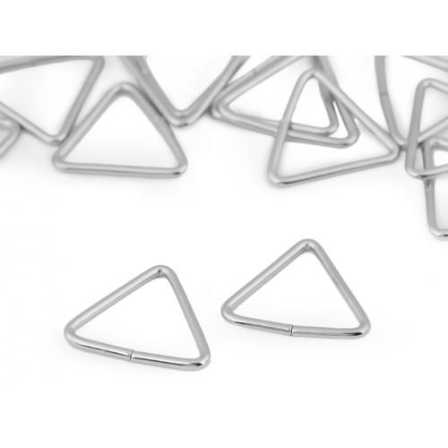 Průvlek trojúhelník šíře 20 mm nikl