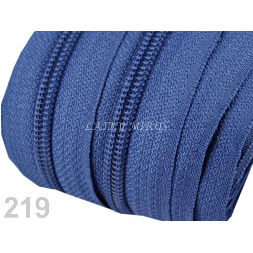 Zip spirálový 5mm - modrý