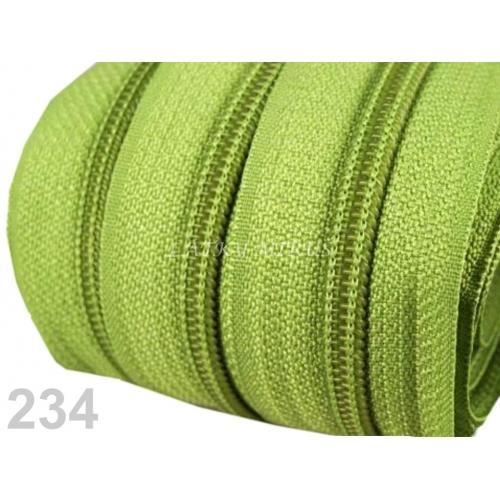 Zip spirálový 5mm - zelený