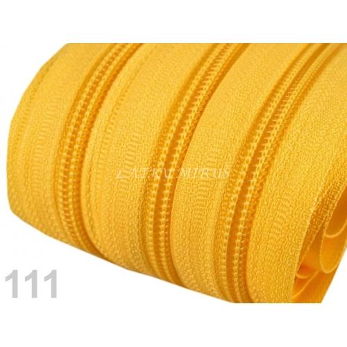 Zip spirálový 5mm - žlutý