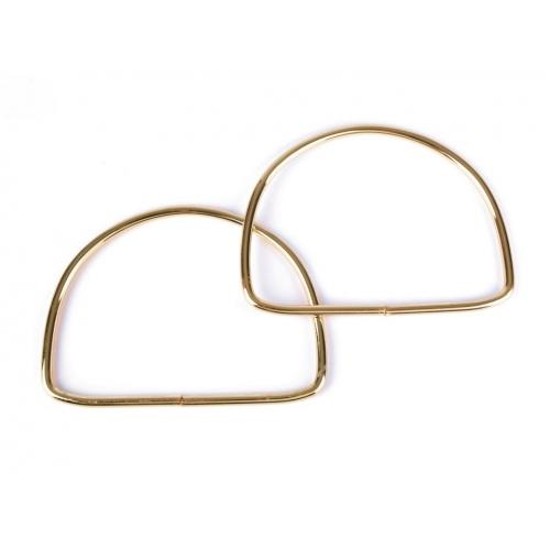 Kovová ucha na tašky 10,5x13 cm Zlaté