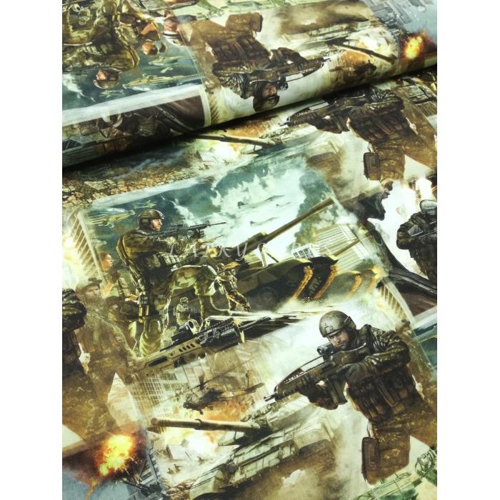 č.4107 digitální tisk - vojáci