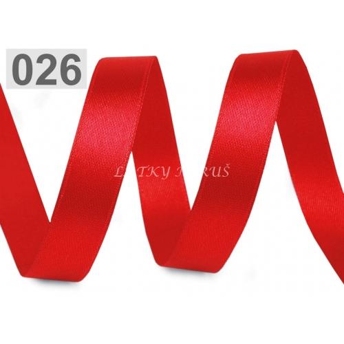 Stuha atlasová 15mm - červená