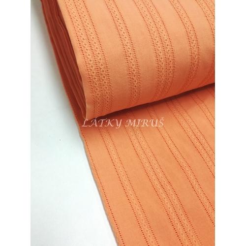 č.3949 vyšívaná bavlna meruňková
