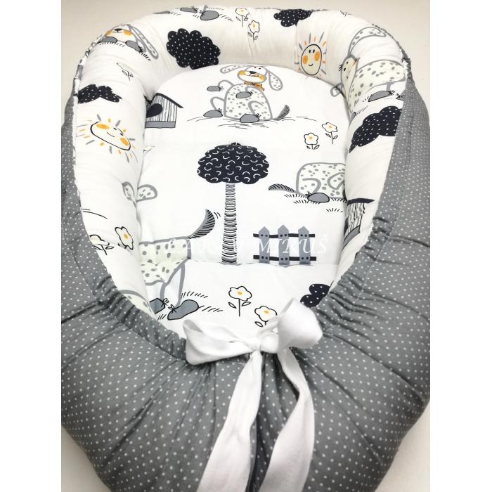 Hnízdečko  - pejsci v šedé