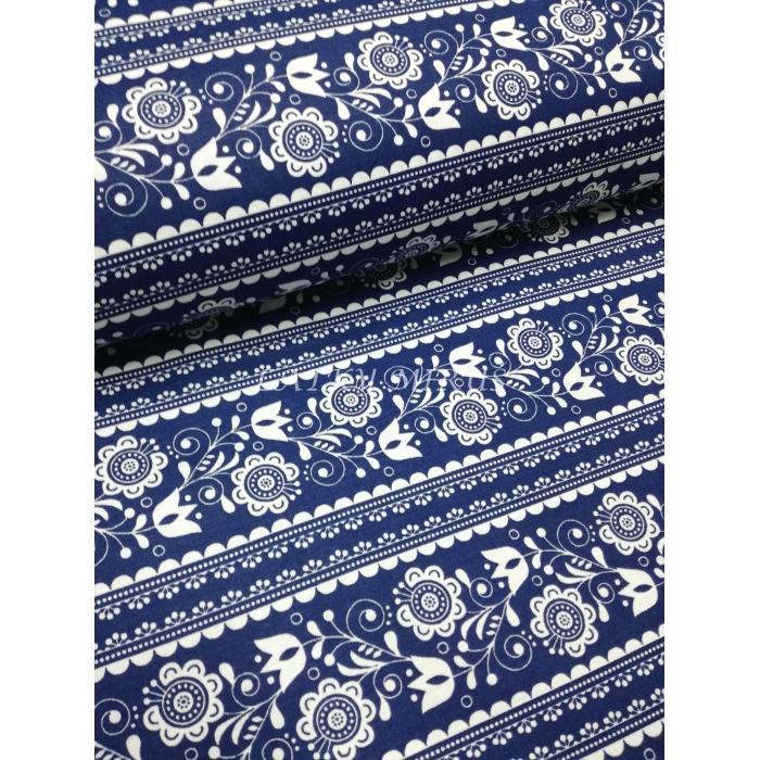 č.725 květy na modré