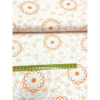 č.3823 květy oranžové