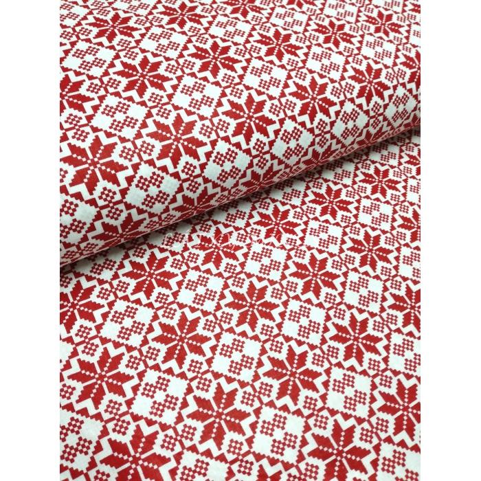 č.3699 červené ornamenty