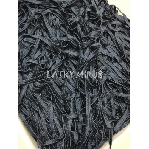 Guma černá plochá jemná 4mm (10m)