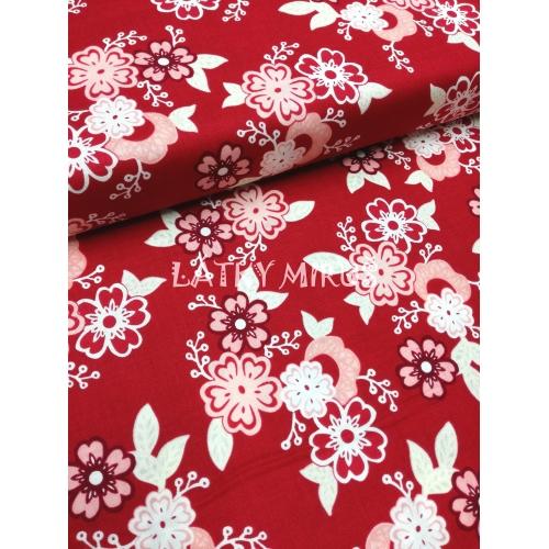 č.579 květy na červené