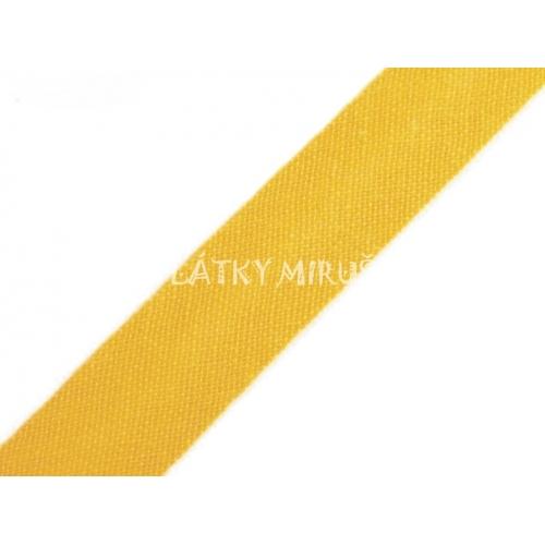 Šikmý proužek 14mm - žlutá