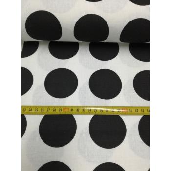 č.7207 černé kolečka - panama