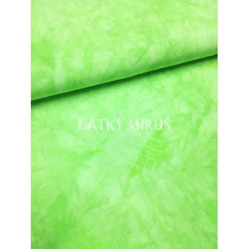 č.1912 viskoza - zelená batika