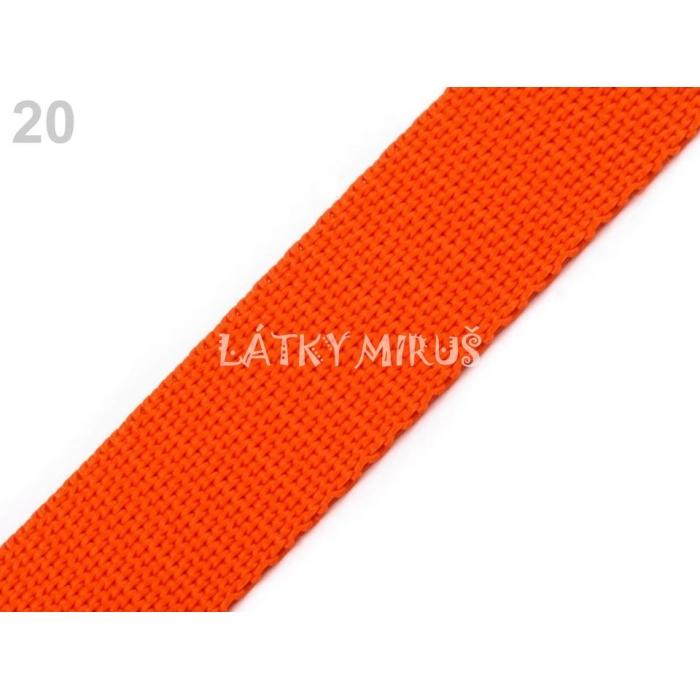 Popruh 30mm oranžová