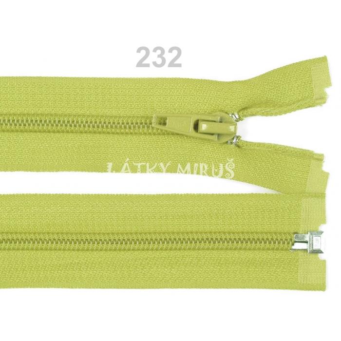 Spirálový zip šíře 5 mm délka 30 cm bundový zelený