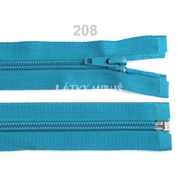 Spirálový zip šíře 5 mm délka 30 cm bundový tyrkysový