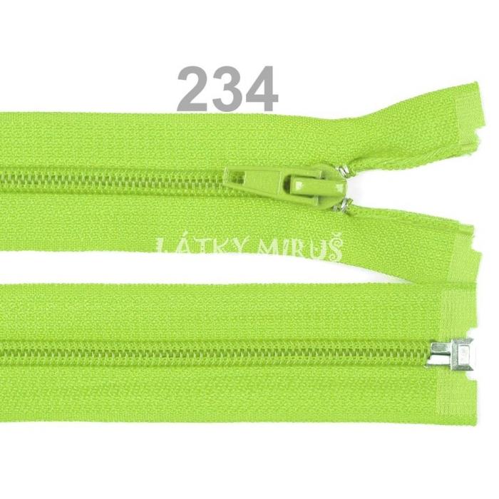 Spirálový zip šíře 5 mm délka 35 cm bundový zelený