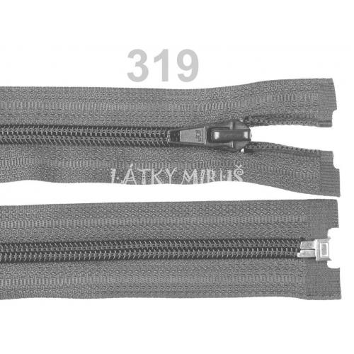 Spirálový zip šíře 5 mm délka 35 cm bundový šedý