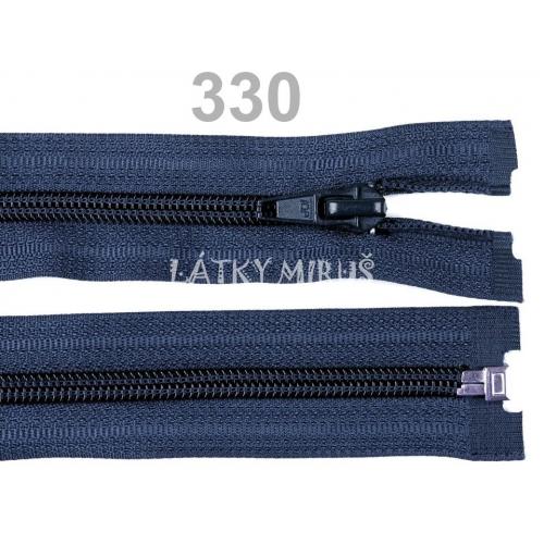 Spirálový zip šíře 5 mm délka 35 cm bundový tm.modrý