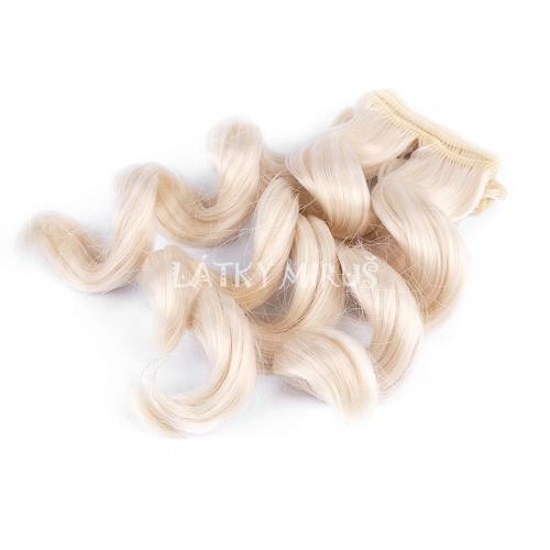 Paruka / vlasy pro panenky 25 cm vlnité BLOND