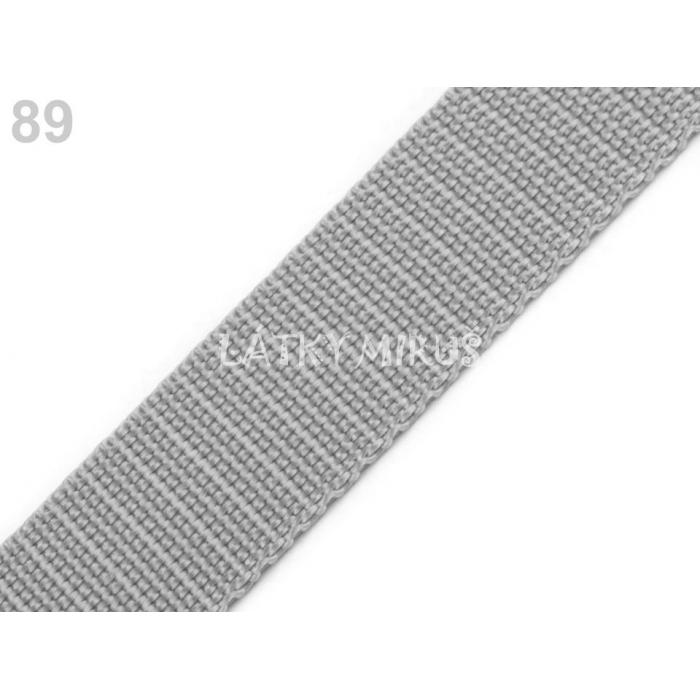 Popruh sv.šedý 30mm